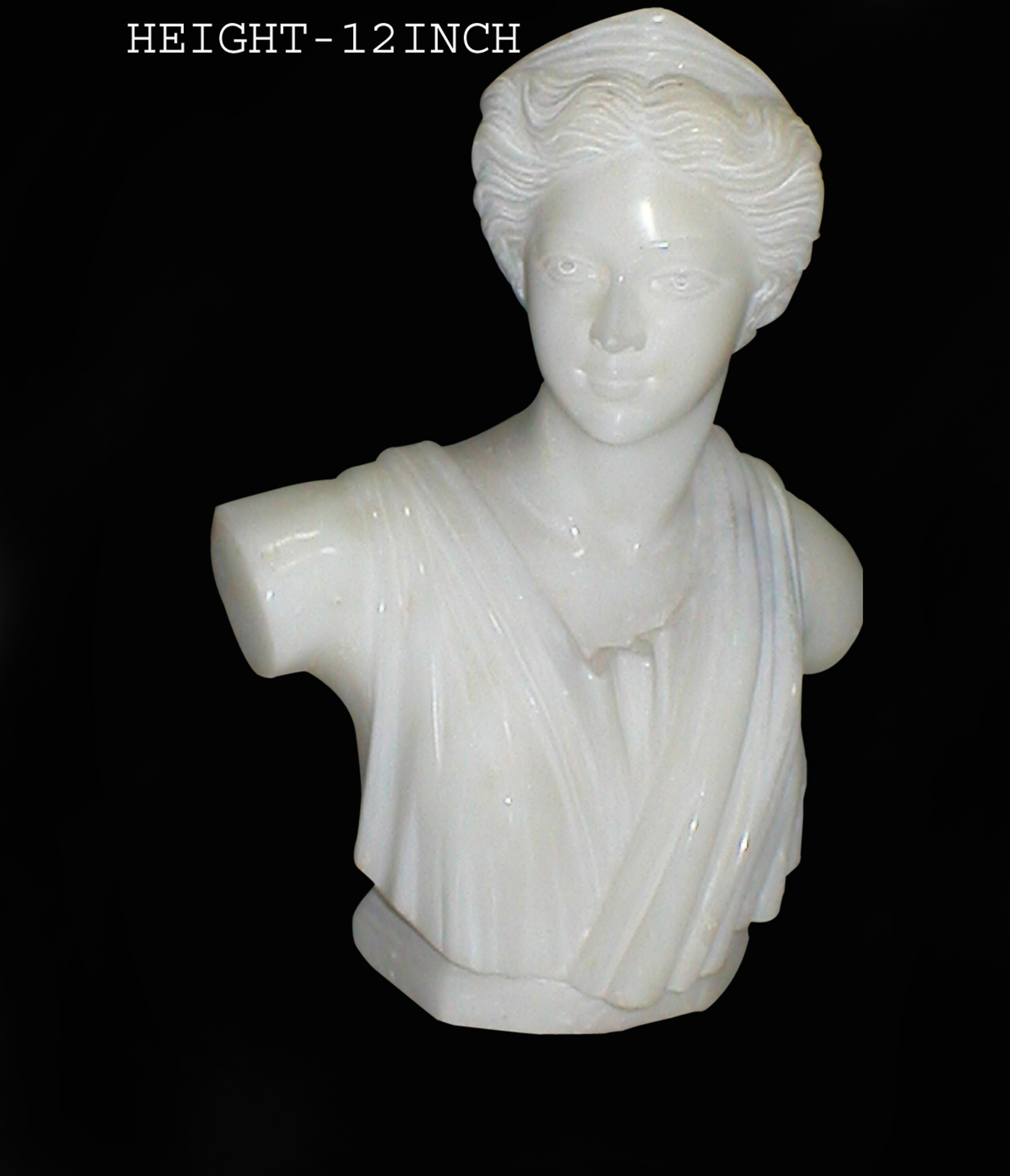 Marble Lady Bust Statue